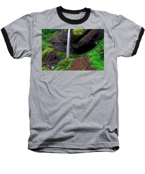 Baseball T-Shirt featuring the photograph Latourell Falls Oregon by Jonathan Davison