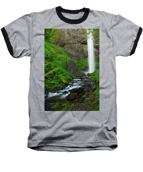 Latourell Falls Oregon Baseball T-Shirt