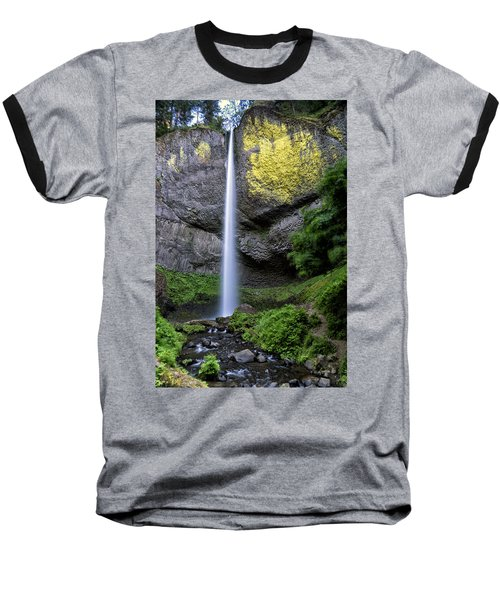Latourell Water Fall Oregon Dsc05430 Baseball T-Shirt by Greg Kluempers