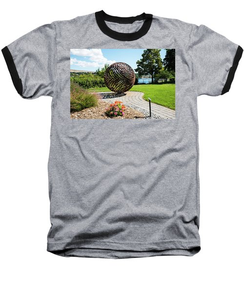 Latticed Iron Ball With Shadow Baseball T-Shirt
