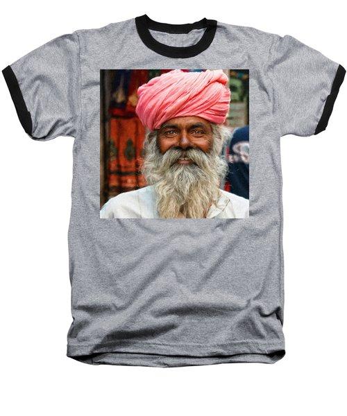 Laughing Indian Man In Turban Baseball T-Shirt