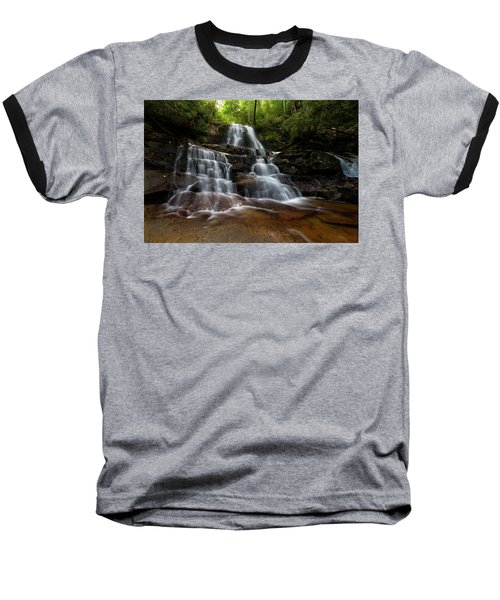 Laurel Falls Great Smoky Mountains Tennessee Baseball T-Shirt