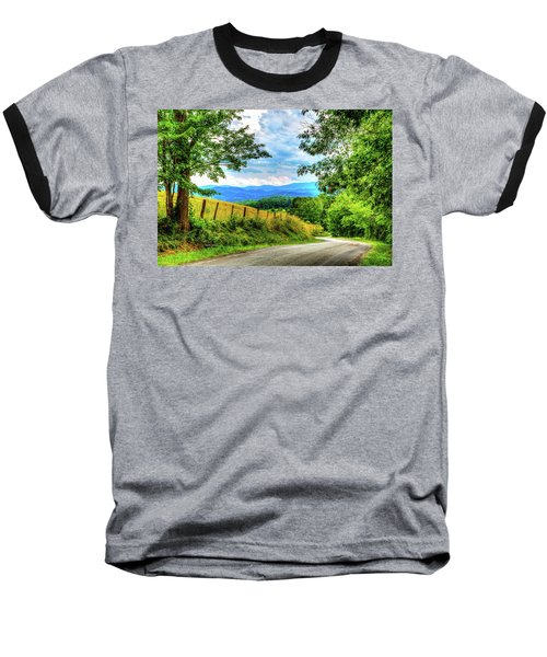 Laurel Hill View Baseball T-Shirt by Dale R Carlson
