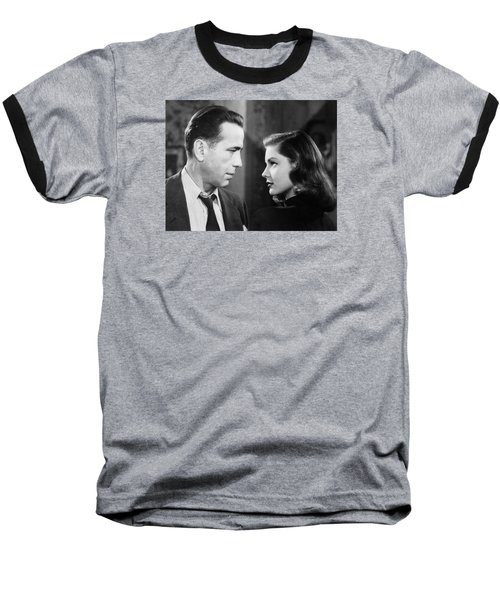 Lauren Bacall Humphrey Bogart Film Noir Classic The Big Sleep 2 1945-2015 Baseball T-Shirt