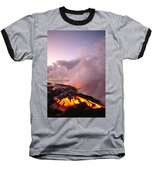 Lava Flows At Sunrise Baseball T-Shirt by Peter French - Printscapes