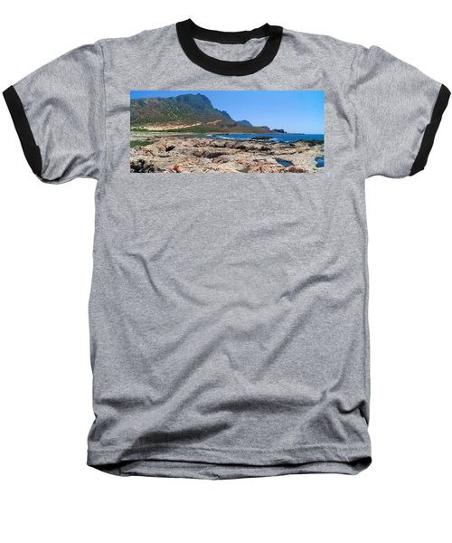 Lava Rocks Of Balos Baseball T-Shirt