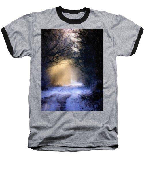 Lavander Snow  Baseball T-Shirt by Michele Carter