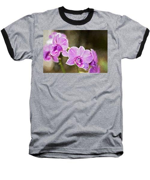 Lavendar Orchids Baseball T-Shirt