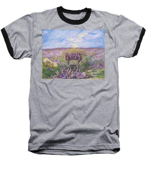 Baseball T-Shirt featuring the painting Lavendar Wishes by Leslie Allen
