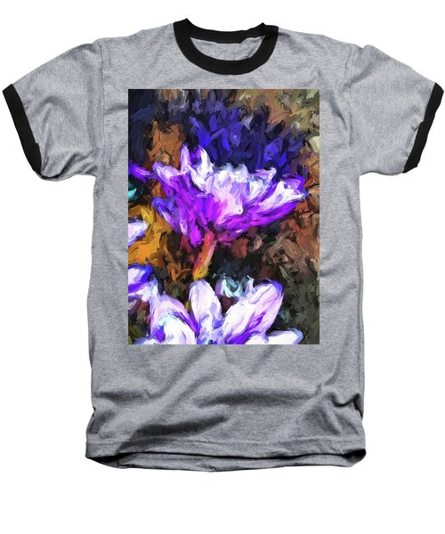 Lavender And White Flower With Reflection Baseball T-Shirt