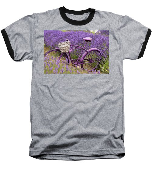 Lavender Bike Baseball T-Shirt