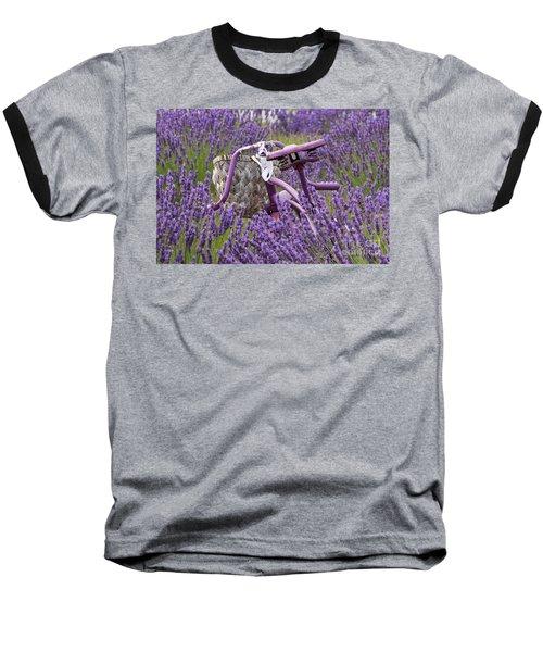 Lavender Farm Bike Baseball T-Shirt