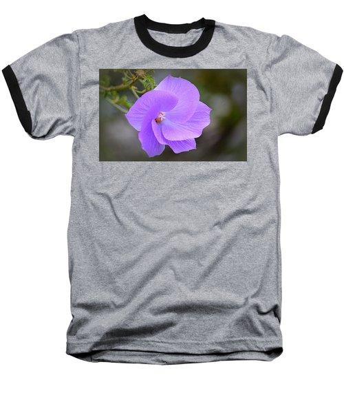 Baseball T-Shirt featuring the photograph Lavender Flower by AJ Schibig