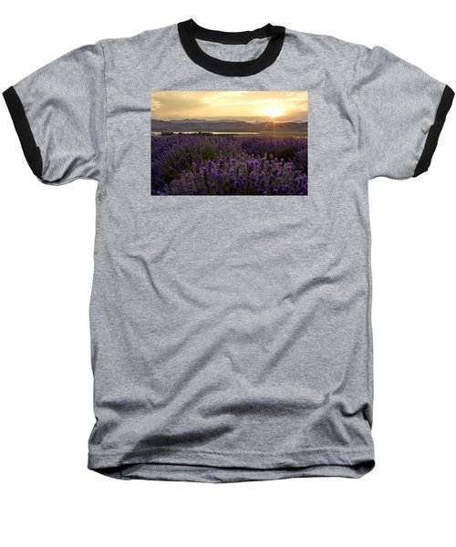 Lavender Glow Baseball T-Shirt by Chad Dutson