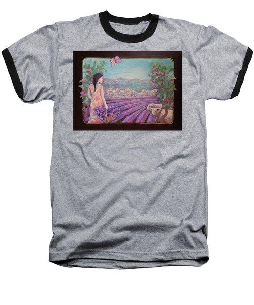 Lavender Harvest With Friends Baseball T-Shirt