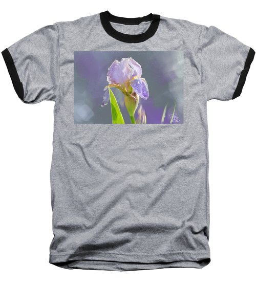 Lavender Iris In The Morning Sun Baseball T-Shirt
