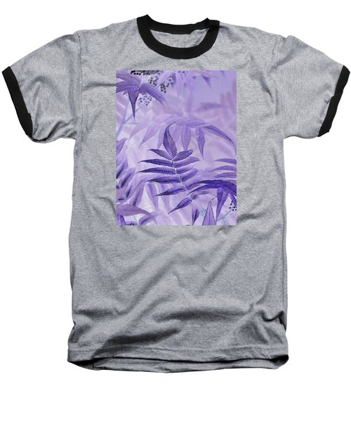 Lavender Leaves  Baseball T-Shirt