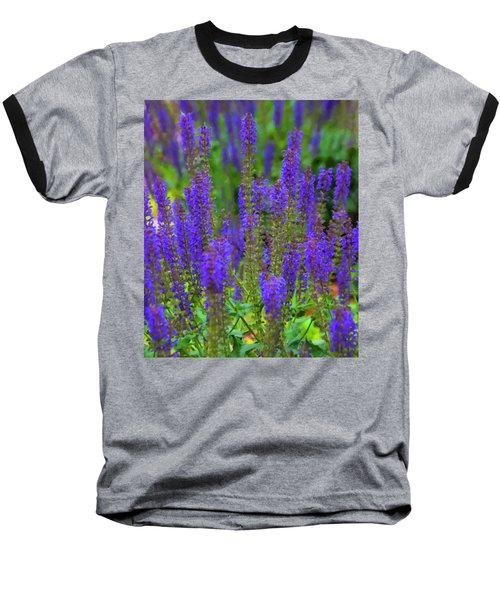 Baseball T-Shirt featuring the digital art Lavender Patch by Chris Flees