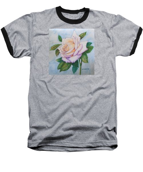 Lavender Rose Baseball T-Shirt by Marna Edwards Flavell
