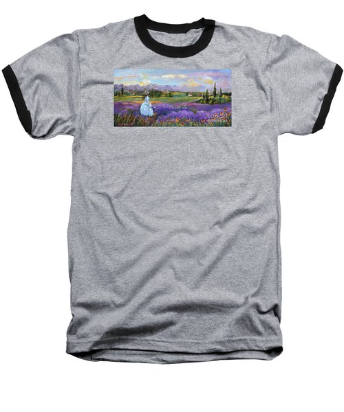 Baseball T-Shirt featuring the painting Lavender Splendor  by Jennifer Beaudet