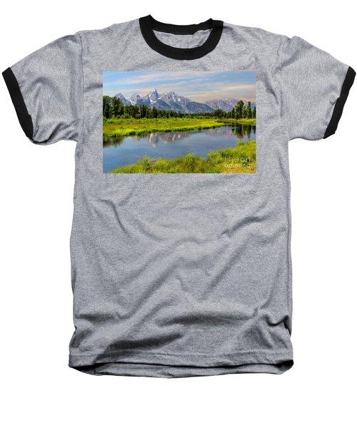 Lavender Teton Peaks  Baseball T-Shirt