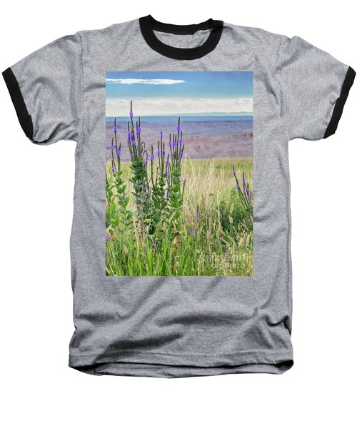 Lavender Verbena And Hills Baseball T-Shirt