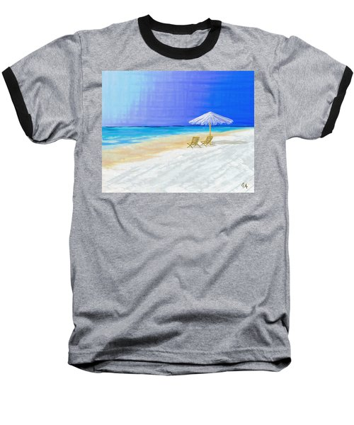 Lawn Chairs In Paradise Baseball T-Shirt by Jeremy Aiyadurai