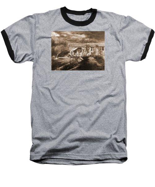 Baseball T-Shirt featuring the drawing Lawn by Mikhail Savchenko