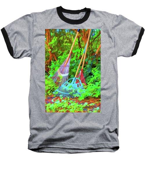 Lawn Tools Baseball T-Shirt