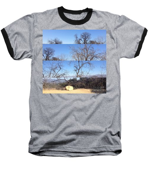 Layered Perspectives Baseball T-Shirt by Nora Boghossian