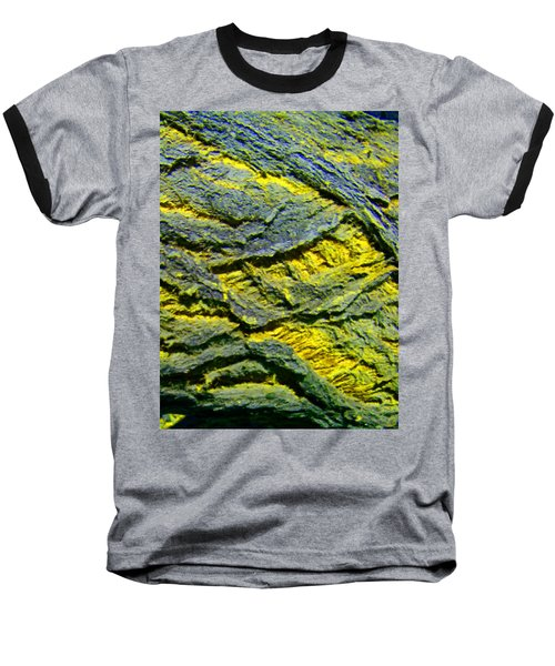 Baseball T-Shirt featuring the photograph Layers In Blue And Yellow by Lenore Senior