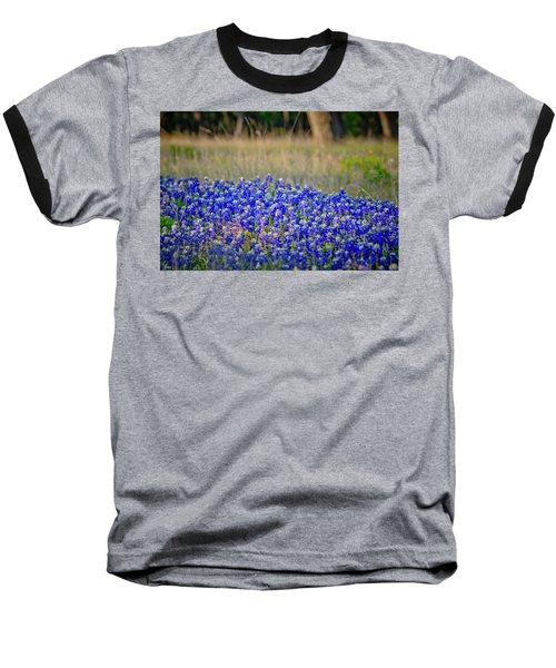 Baseball T-Shirt featuring the photograph Layers Of Blue by Linda Unger