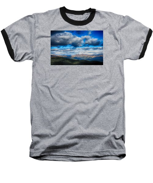 Layers Of Clouds On Mount Evans Baseball T-Shirt