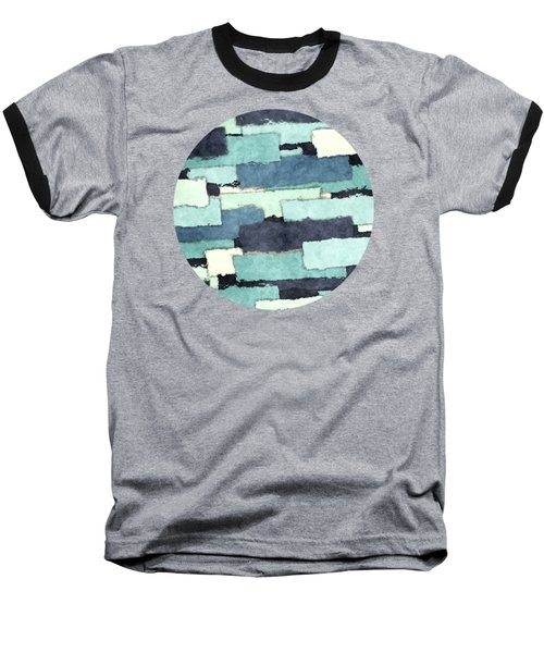 Layers Of Colors Pattern Baseball T-Shirt by Phil Perkins