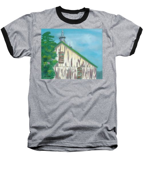 Baseball T-Shirt featuring the painting Layers Of Years Gone By by Arlene Crafton