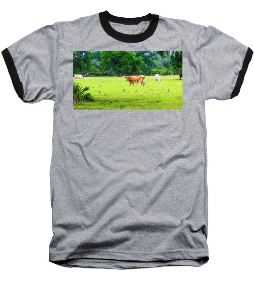 Lazy Afternoon In The Life Of A Cow Baseball T-Shirt
