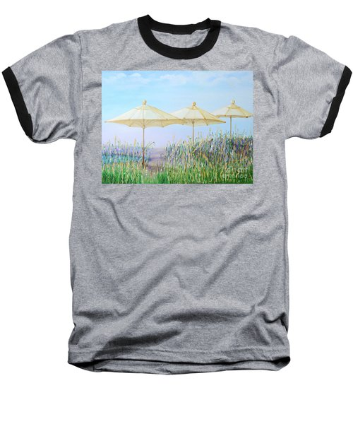 Baseball T-Shirt featuring the painting Lazy Days Of Summer by Barbara Anna Knauf