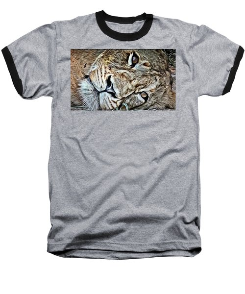 Lazy Lion Baseball T-Shirt