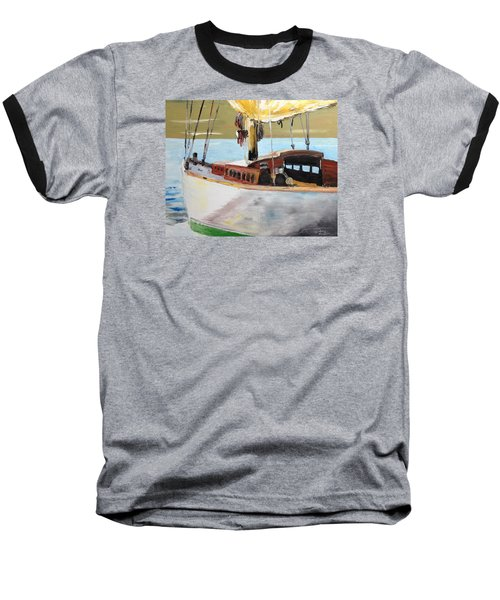 Baseball T-Shirt featuring the painting Lazy Sloop by Stan Tenney