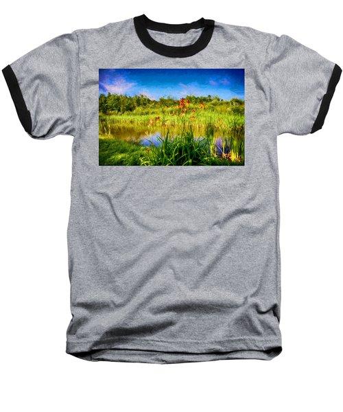 Lazy Summer Baseball T-Shirt by Tricia Marchlik