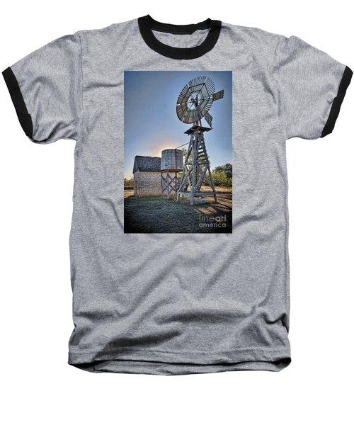 Lbj Homestead Windmill Baseball T-Shirt