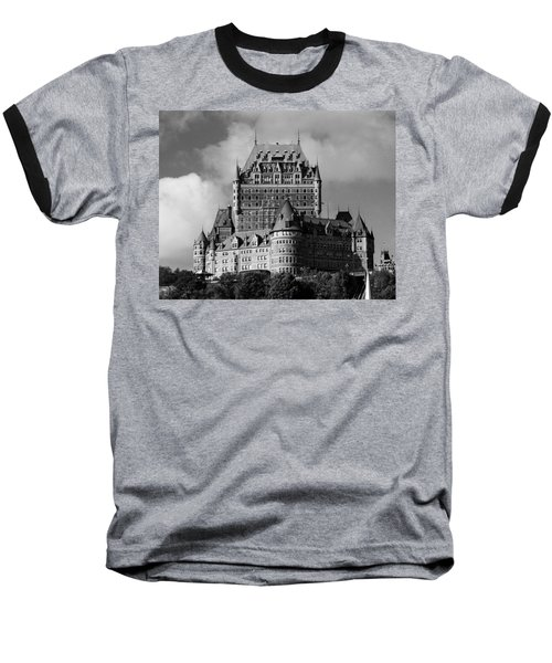 Le Chateau Frontenac - Quebec City Baseball T-Shirt by Juergen Weiss