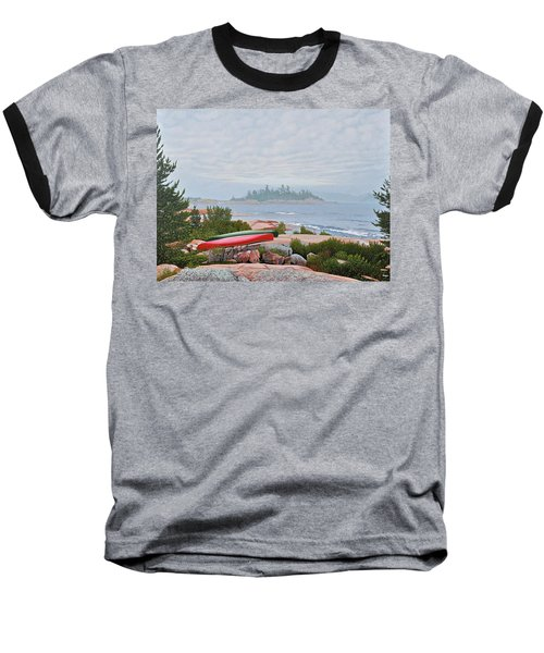 Le Hayes Island Baseball T-Shirt by Kenneth M Kirsch