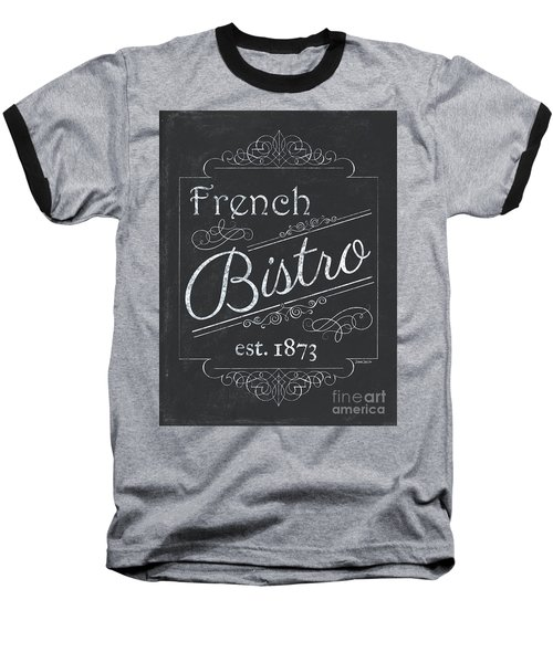Baseball T-Shirt featuring the painting Le Petite Bistro 4 by Debbie DeWitt