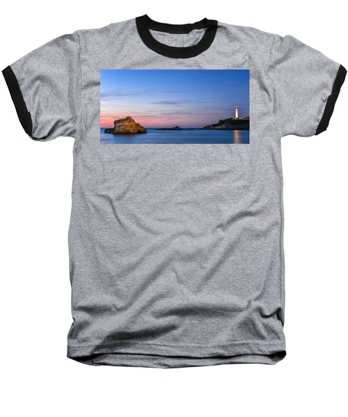 Le Phare De Biarritz Baseball T-Shirt by Thierry Bouriat