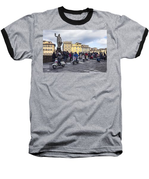 Baseball T-Shirt featuring the photograph Vespe Di Firenze by Sonny Marcyan
