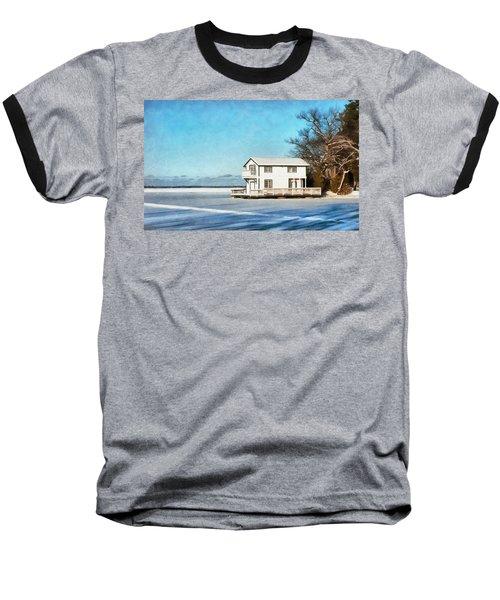 Leacock Boathouse In Winter Baseball T-Shirt
