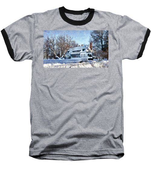 Leacock Museum In Winter Baseball T-Shirt