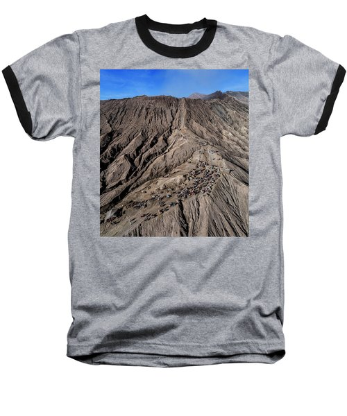 Leading To The Volcano Crater Baseball T-Shirt