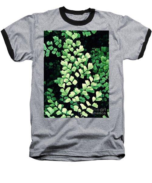 Leaf Abstract 15 Baseball T-Shirt by Sarah Loft